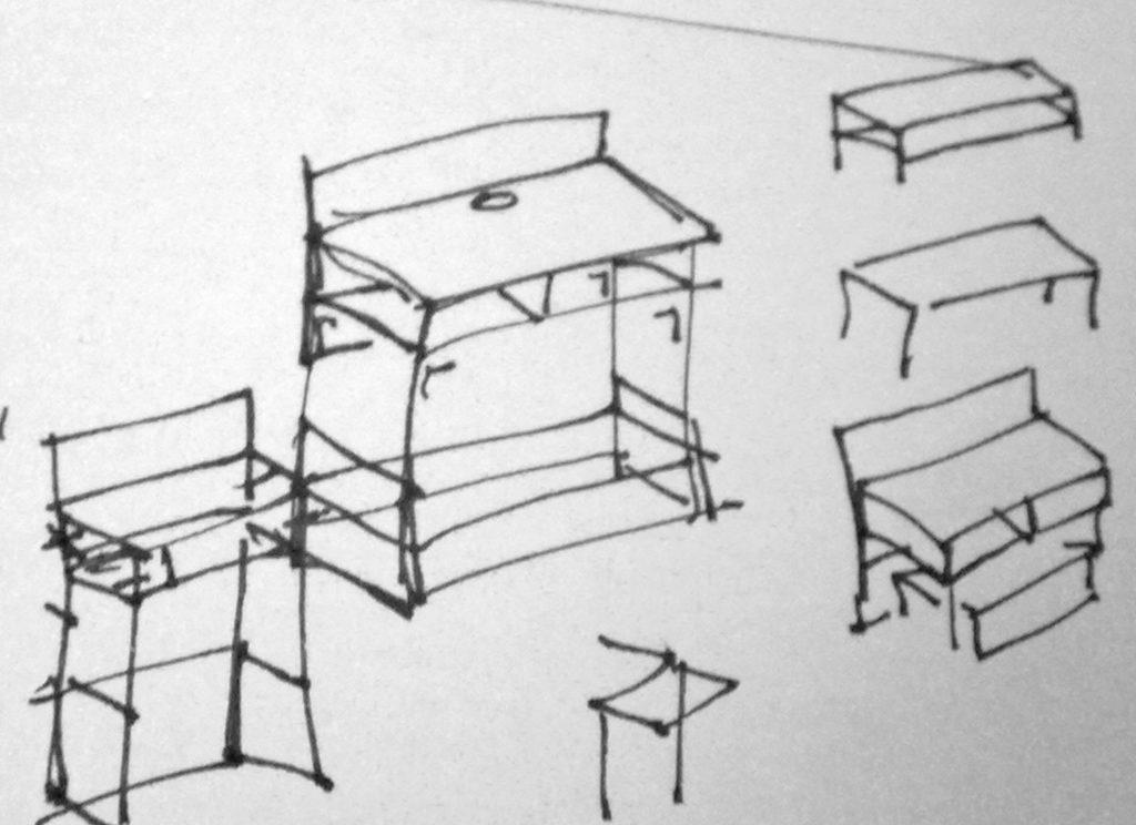 Plan van aanpak voor koffiebalie/tafel/wagen