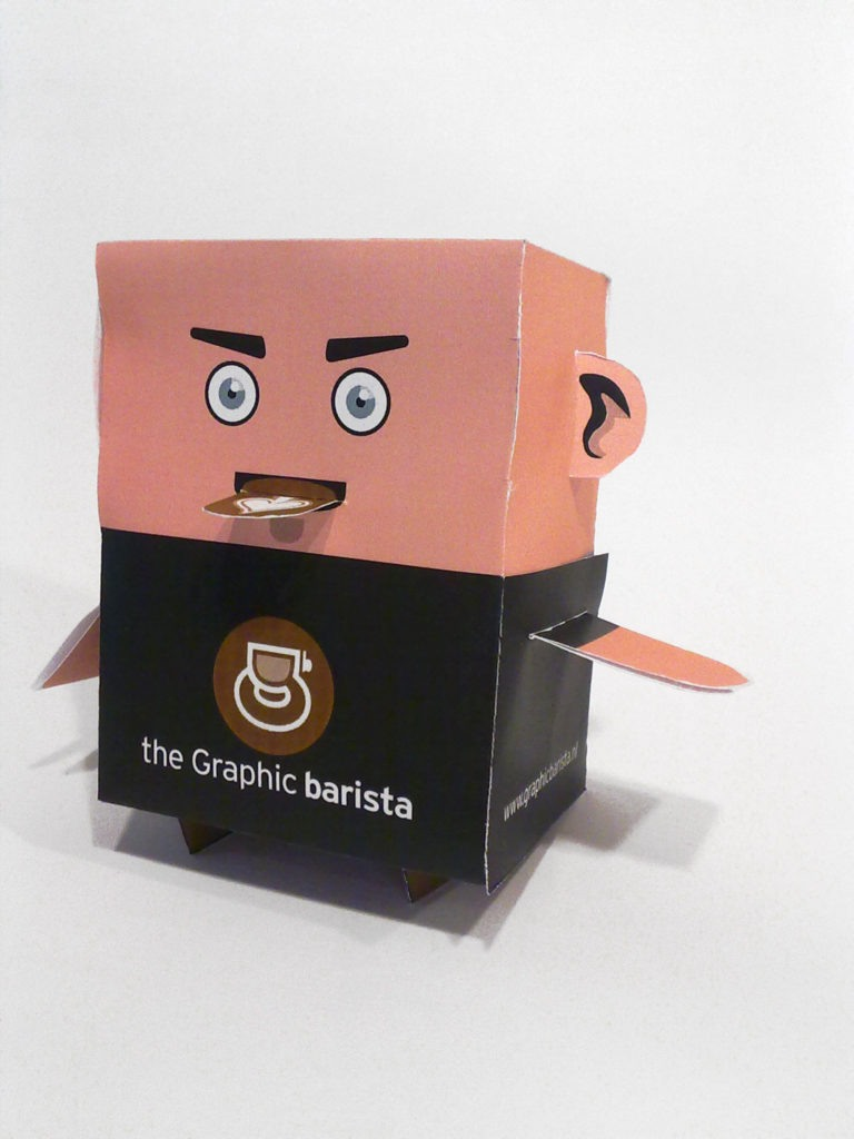 the Graphic barista boxpuppet