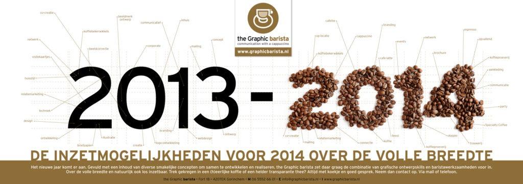 Koffiekerstgroet voor brede inzetmogelijkheden • the Graphic barista-combinatie van ontwerp, fotografie en koffie, grafisch weergegeven